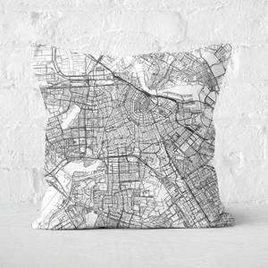 Amsterdam City Map Square Cushion