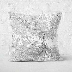 Sydney City Map Square Cushion