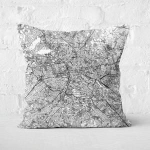 Berlin City Map Square Cushion