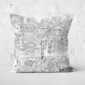 Las Vegas City Map Square Cushion
