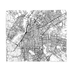 Amsterdam City Map Fleece Blanket