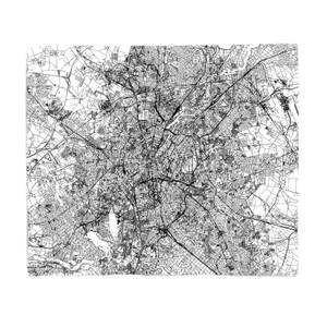 Berlin City Map Fleece Blanket