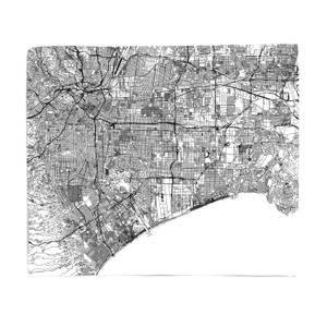 Los Angles City Map Fleece Blanket