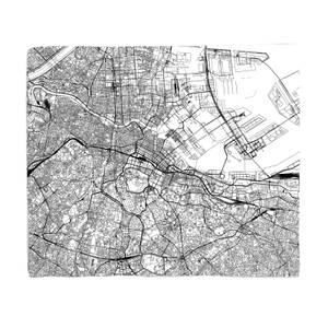 Tokyo City Map Fleece Blanket