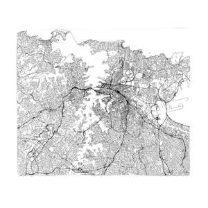 Sydney City Map Fleece Blanket