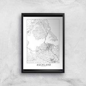 Auckland Light City Map Giclee Art Print