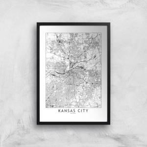 Kansas City Light City Map Giclee Art Print