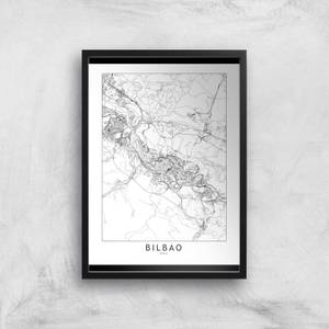 Bilbao Light City Map Giclee Art Print