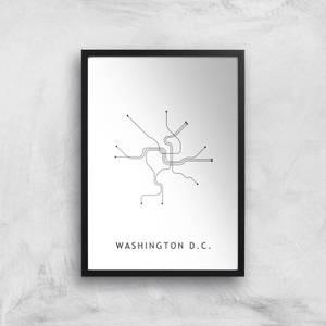 Washington D C Tram Lines Giclee Art Print
