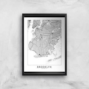 Brooklyn Light City Map Giclee Art Print