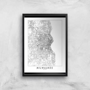 Milwaukee Light City Map Giclee Art Print