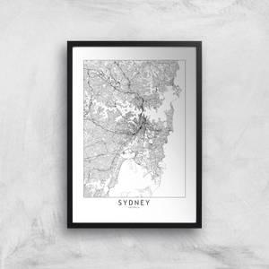 Sydney Light City Map Giclee Art Print