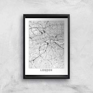 London Light City Map Giclee Art Print
