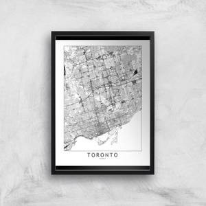 Toronto Light City Map Giclee Art Print