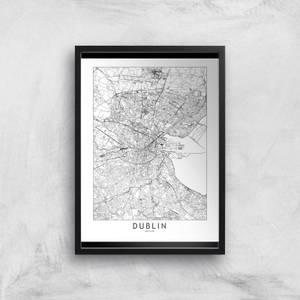 Dublin Light City Map Giclee Art Print