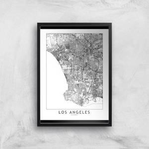 Los Angeles Light City Map Giclee Art Print