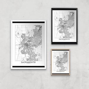 Sacramento Light City Map Giclee Art Print
