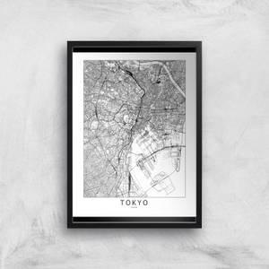 Tokyo Light City Map Giclee Art Print