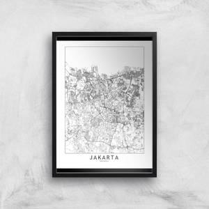 Jakarta Light City Map Giclee Art Print