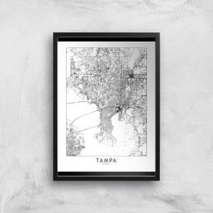 Tampa Light City Map Giclee Art Print