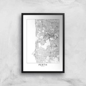 Perth Light City Map Giclee Art Print