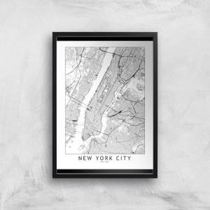New York Light City Map Giclee Art Print