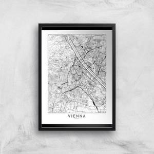 Vienna Light City Map Giclee Art Print