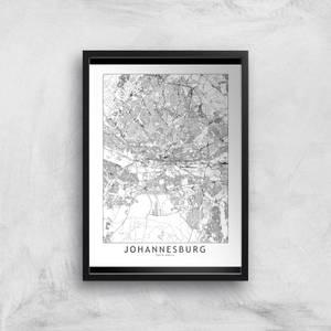Johannesburg Light City Map Giclee Art Print