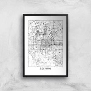 Beijing Light City Map Giclee Art Print