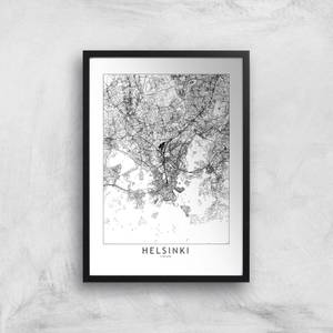Helsinki Light City Map Giclee Art Print