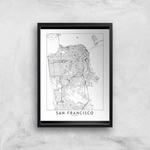 San Francisco Light City Map Giclee Art Print