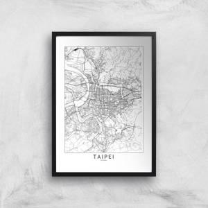 Taipei Light City Map Giclee Art Print