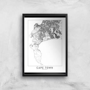 Cape Town Light City Map Giclee Art Print
