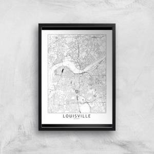 Louisville Light City Map Giclee Art Print