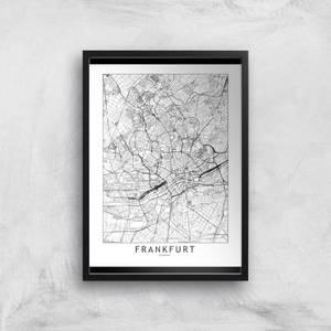 Frankfurt Light City Map Giclee Art Print
