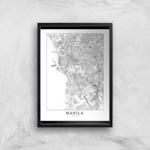 Manila Light City Map Giclee Art Print