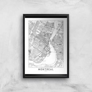 Montreal Light City Map Giclee Art Print