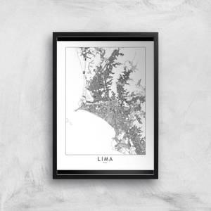 Lima Light City Map Giclee Art Print