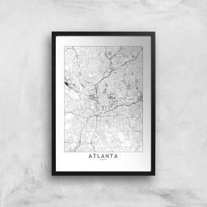 Atlanta Light City Map Giclee Art Print