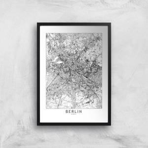 Berlin Light City Map Giclee Art Print