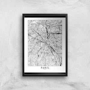 Paris Light City Map Giclee Art Print