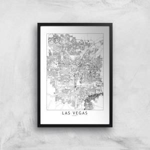 Las Vegas Light City Map Giclee Art Print