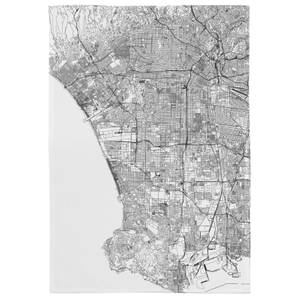 Los Angles City Map Tea Towel