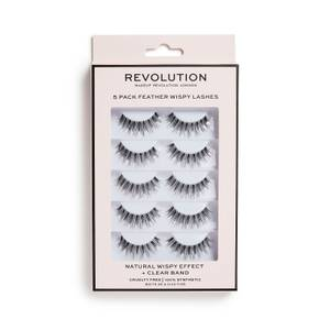 Makeup Revolution 5 Pack Feather Wispy Lashes
