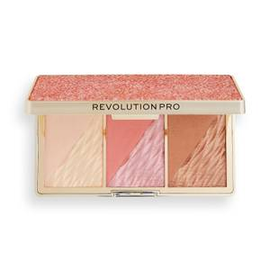 Revolution Pro Crystal Luxe Face Palette - Rose Fresco