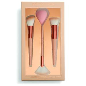 Makeup Revolution Sculpt & Glow Brush Set with Blending Sponge
