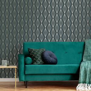 Boutique Emerald Marquise Geometric Wallpaper