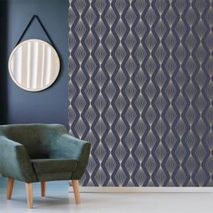 Boutique Sapphire Marquise Geometric Wallpaper