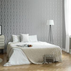 Boutique Moonstone Marquise Geometric Wallpaper