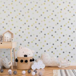 Superfresco Easy Yellow/Silver Dotty Polka Wallpaper